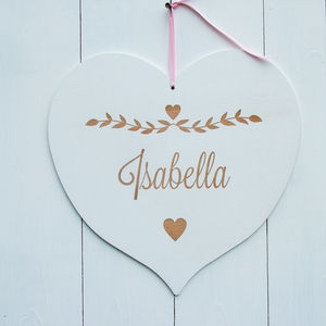 Child's Hanging Wooden Name Plaque