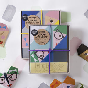 Origami Notepaper Set : Bella - all purpose cards, postcards & notelets