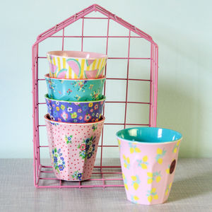 Two Toned Patterned Melamine Tumbler - picnics & barbecues