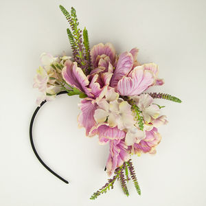 Hydrangea And Peony Floral Hairband - best-dressed guest