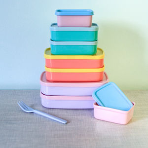 Pastel Shade Food Storage Boxes - picnics & barbecues