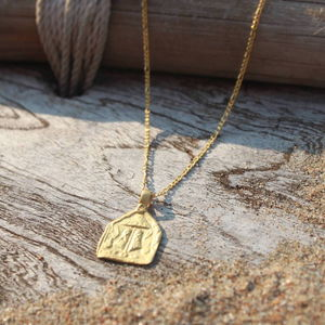 Gold Charm Necklace Protection