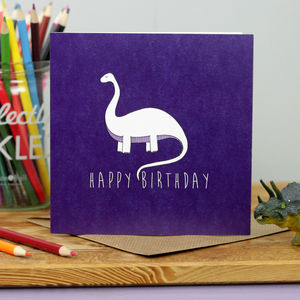 Brontosaurus Birthday Card