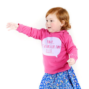Personalised Child's Dinosaur Hoodie - jumpers & cardigans