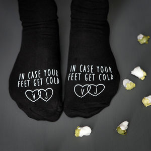 In Case Your Feet Get Cold Wedding Socks - underwear & socks