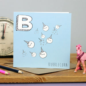 Bubble Unicorns Card