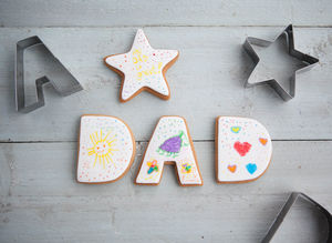 Star Dad Cookie Cutter Set - cookie cutters