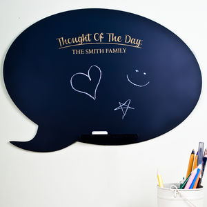 Personalised Speech Bubble Chalkboard - kitchen accessories