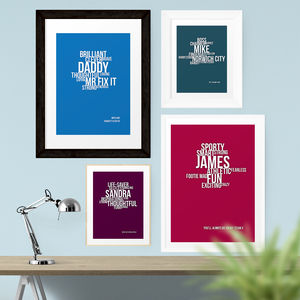 Personalised Personality Print - shop by price