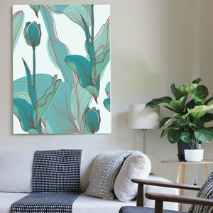 Botanical Peace Garden, Canvas Art - the greenhouse edit