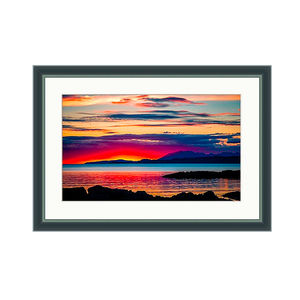 Sunset Over Skye Framed And Mounted L.E. Print - nature & landscape