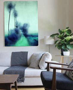 Botanical Ocean Blv, Canvas Art - statement homeware under £100