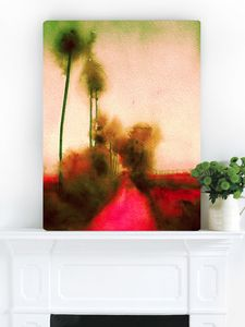 Botanical Sunset, Canvas Art - modern & abstract