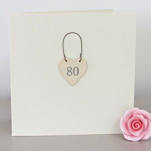 '80th' Handmade Birthday Card