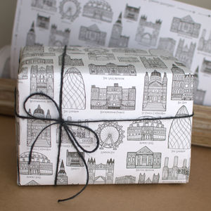 Sightlines London Wrapping Paper - wrapping paper