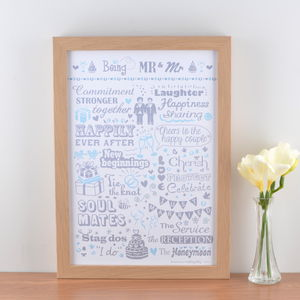 'Being Mr And Mr' Typographic Art Print
