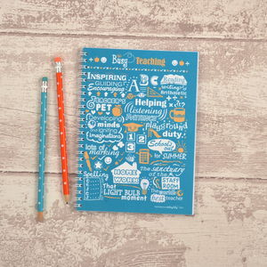 'Busy Teaching' Notebook - gifts for teachers