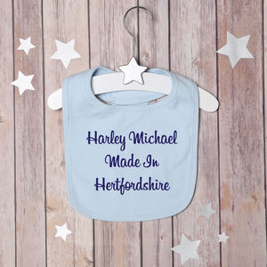Personalised Made In Bib - baby care