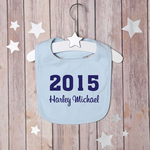 Personalised Year Bib - baby care