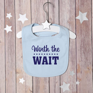 Worth The Wait Bib