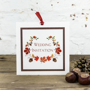 Autumn Wedding Invitation - rustic autumn wedding styling