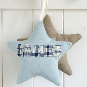 Personalised Embroidered Star - keepsakes