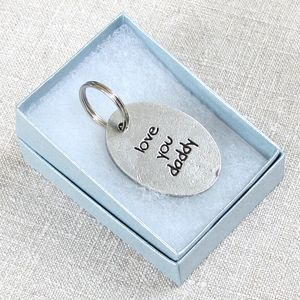 'Love You Daddy' Pewter Keyring