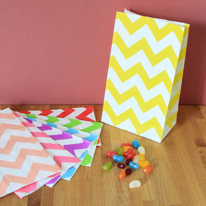 Chevron Box Bottomed Party Bags - wedding favours