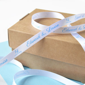 Wedding 10mm Personalised Printed Ribbon - wedding cards & wrap