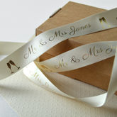 Wedding 25mm Personalised Printed Ribbon - cards