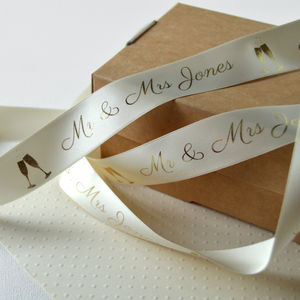 Wedding 25mm Personalised Printed Ribbon - wedding cards & wrap