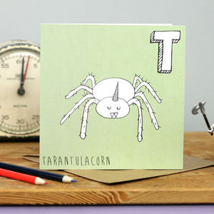 Tarantula Unicorn Card