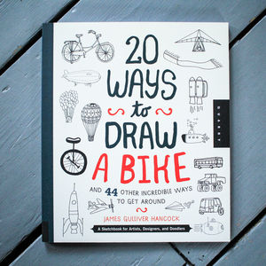 20 Ways To Draw A Bike Book - gifts for sportsmen