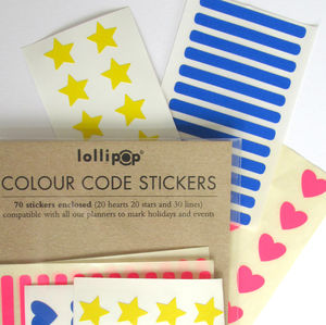 Colour Code Planner Labels : Brights - ribbon & wrap