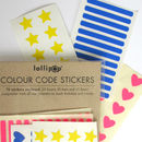 Colour Code Planner Labels : Brights