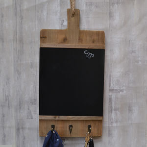 Large Chopping Board Design Chalk Board And Hooks