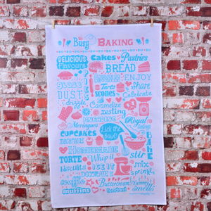 'Busy Baking' Tea Towel