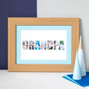 Personalised 'Grandpa' Photograph Print - posters & prints