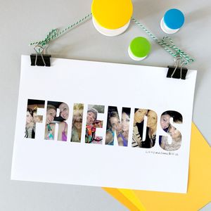 Personalised Photograph 'Friends' Print