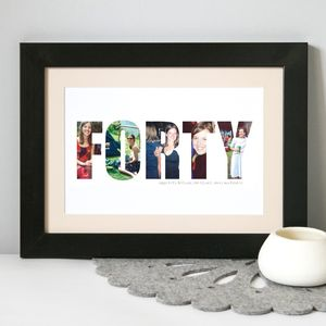 Personalised Birthday Photograph Print 30th, 40th, 50th - birthday gifts
