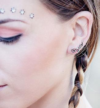 Silver Spiral Ear Cuffs