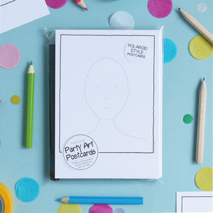 Party Portrait Guest Book Postcards - for children