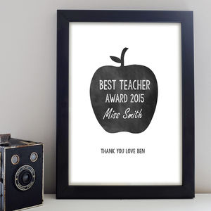 Teacher Apple Print - gifts for teachers