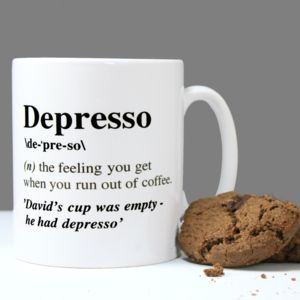 Personalised 'Depresso' Mug