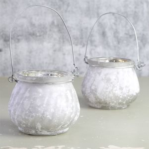 Frosted Hanging Tealight Holder