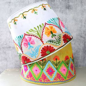 'Folklandia' Large Embroidered Lampshade