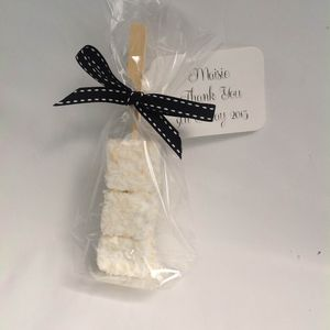 Personalised Coconut And Lime Marshmallow Favours - wedding favours