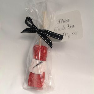 Champagne And Strawberries Marshmallow Favours - edible favours