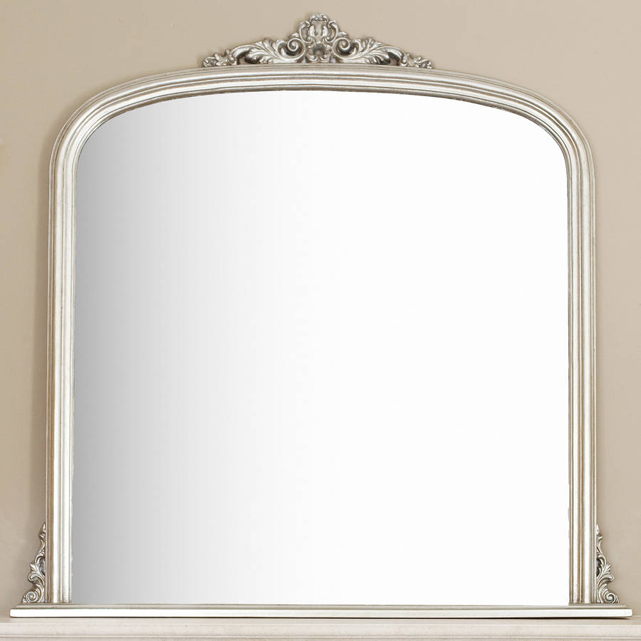 Silver overmantel mirror by decorative mirrors online for Mirror o mirror