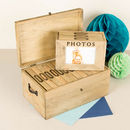 Family Wooden Photo Memory Boxes